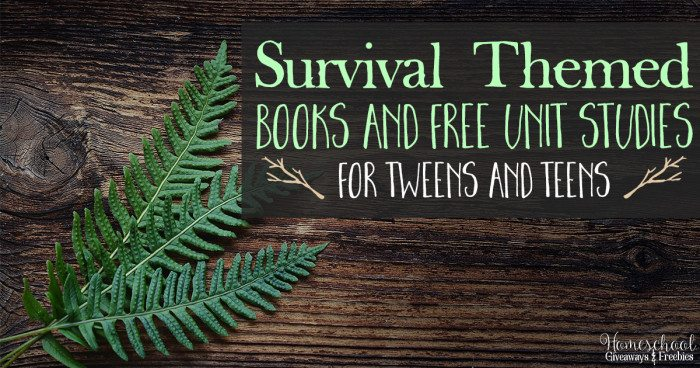 Survival Themed Books and FREE Unit Studies FB