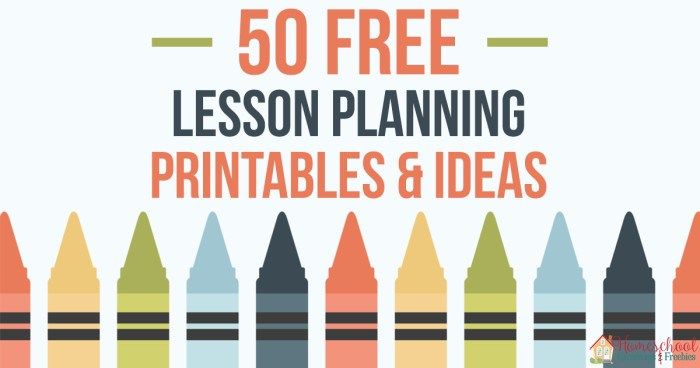 50 FREE Lesson Planning Printables and Ideas FB