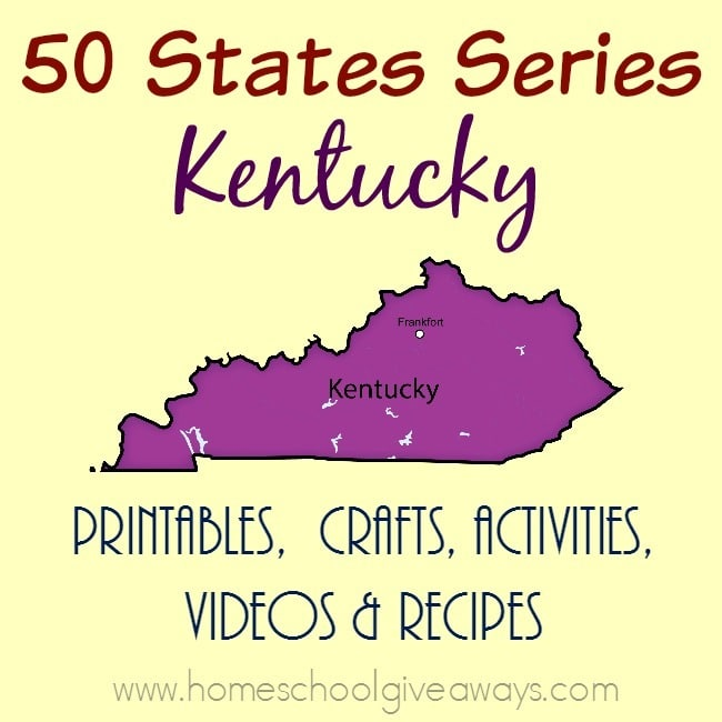 Learn more about the state of Kentucky with these great resources. From printables to crafts, activities, recipes and even sites to see. :: www.homeschoolgiveaways.com