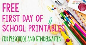 FREE First Day of School Printables FB