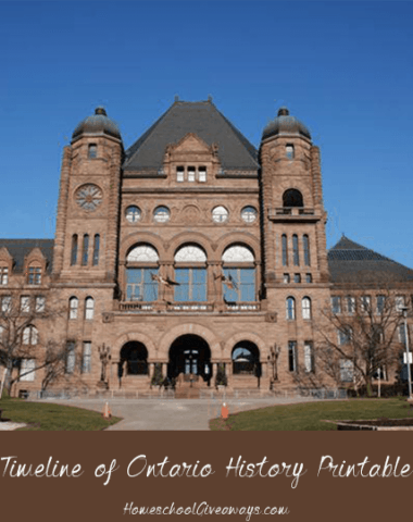 Timeline of Ontario History