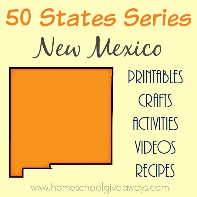 Want to know more about the state of New Mexico? Find everything you need to teach and/or learn about it with these free printables, activities, crafts, recipes & more! :: www.homeschoolgiveaways.com