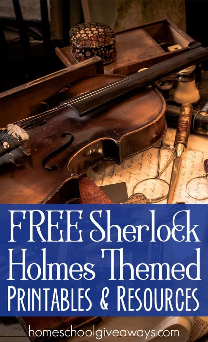 FREE Sherlock Holmes Themed Printables and Resources