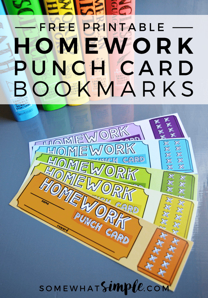 Homework-punch-card-bookmarks-free-printables
