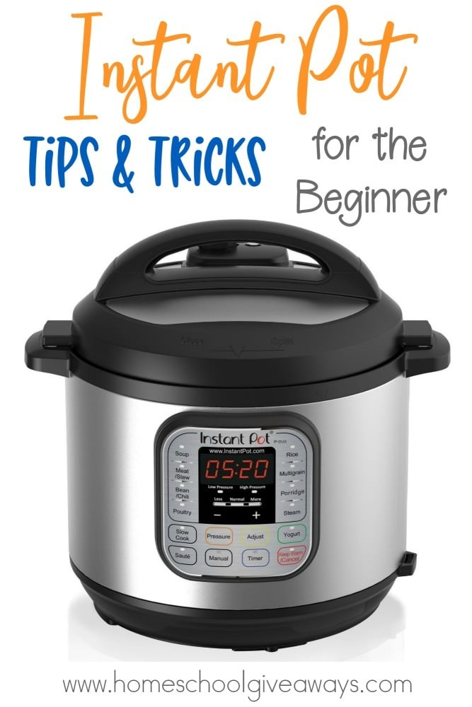 Are you on the fence about buying an Instant Pot? Maybe you're a newbie? Here are some tips, tricks and why you should get one for the beginner! :: www.homeschoolgiveaways.com