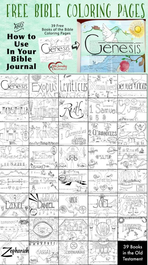 39 FREE Bible Coloring Pages And Bible Journal Idea - Homeschool Giveaways