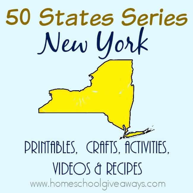 If you're studying about the state of New York, here is everything you need. From printables to activities & crafts to recipes & more! :: www.homeschoolgiveaways.com