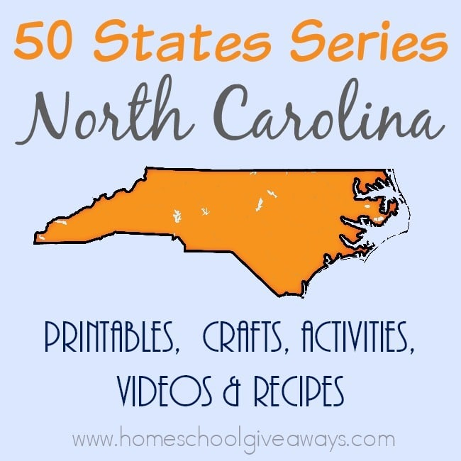 Studying about North Carolina? Here's everything you need! From free printables to crafts & activities to Must-See Sites to Recipes and more! :: www.homeschoolgiveaways.com