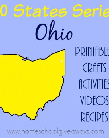 Studying the state of Ohio? Here are all the resources you need - printables, crafts, activities, recipes and more! :: www.homeschoolgiveaways.com