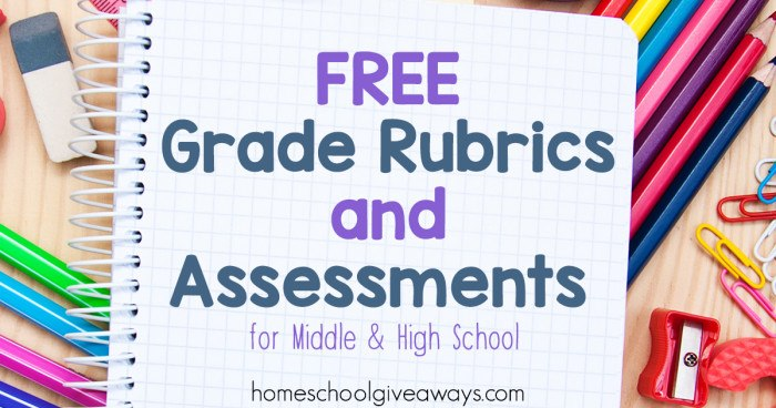 FREE Grade Rubrics and Assessments for Middle and High School FB