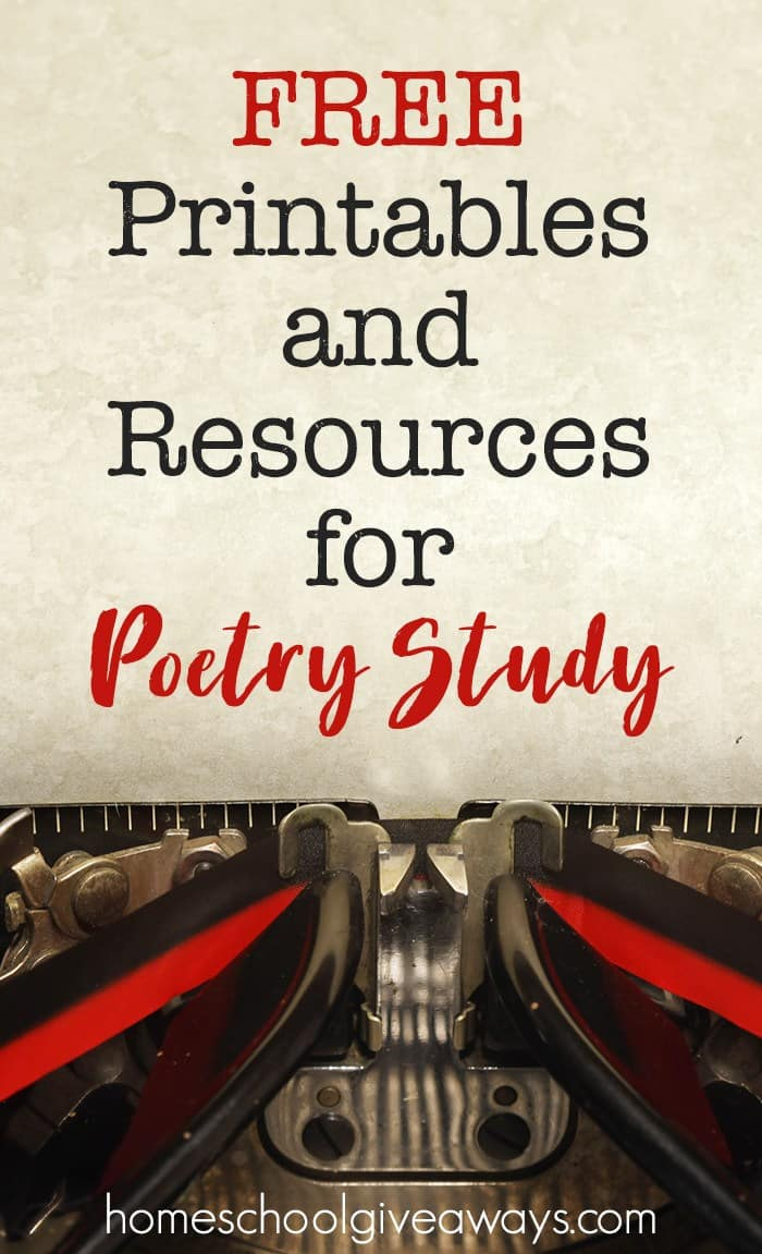 FREE Printables and Resources for Poetry Study
