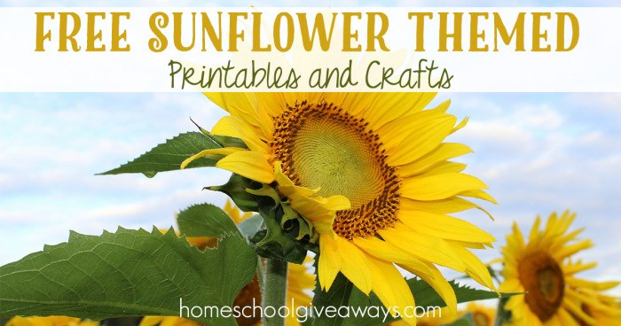 FREE Sunflower Themed Printables and Crafts FB