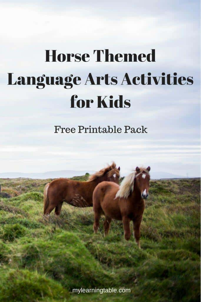 Free Printable Horse Themed Activities Horse Books For Kids Homeschool Giveaways