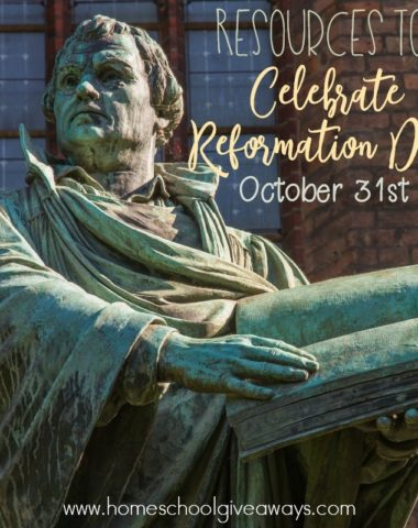 Want to celebrate Reformation Day this year? These printables, activities, crafts and books will help you plan a great celebration! :: www.homeschoolgiveaways.com