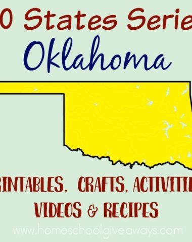 Learning about Oklahoma? We have everything you need to teach and/or learn about the state of Oklahoma! From free printables, recipes, sites to see and more! :: www.homeschoolgiveaways.com