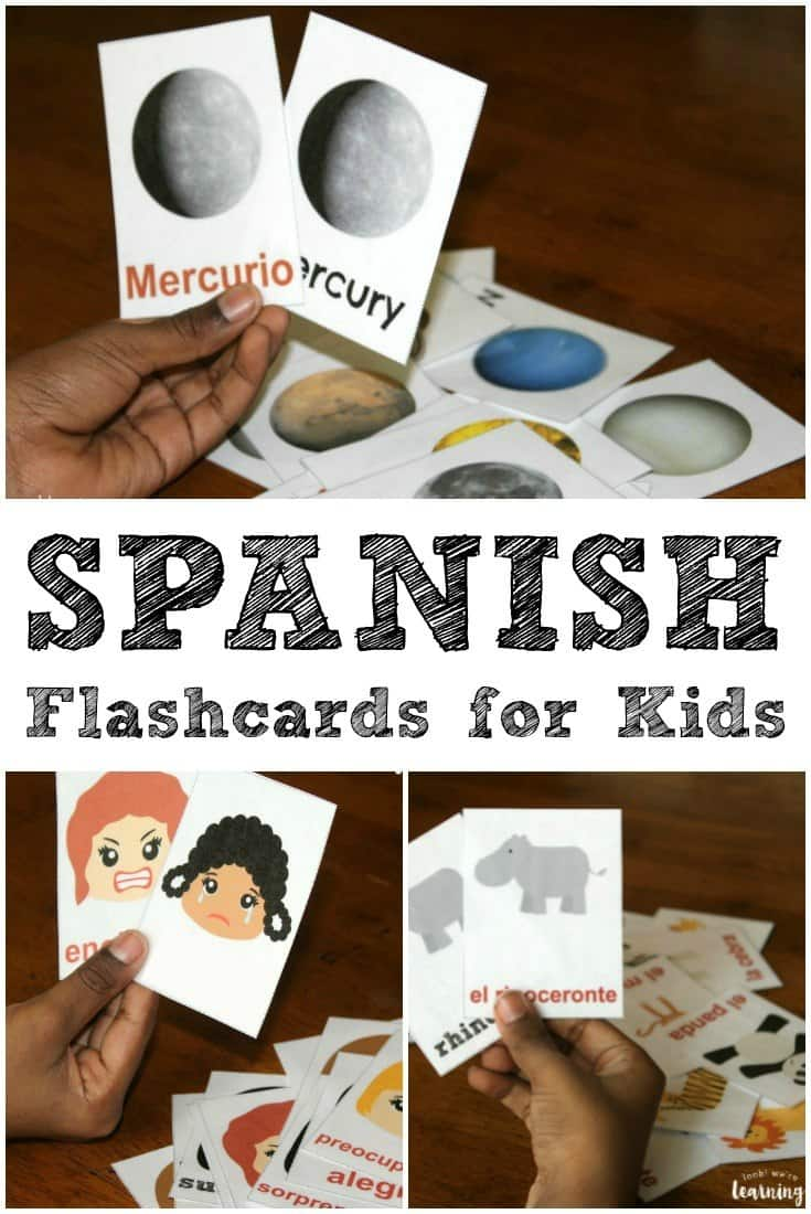 FREE Printable Spanish Flashcards - Homeschool Giveaways