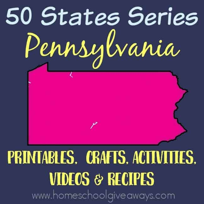 Everything you need to teach and/or learn about the great state of Pennsylvania. From free printables to must see places to visit, to crafts, activities and more! :: www.homeschoolgiveaways.com