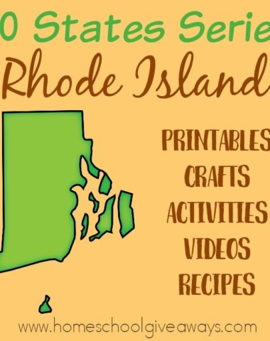Everything you need to teach and/or learn about the great state of Rhode Island. From free printables to must see places to visit, to crafts, activities and more! :: www.homeschoolgiveaways.com