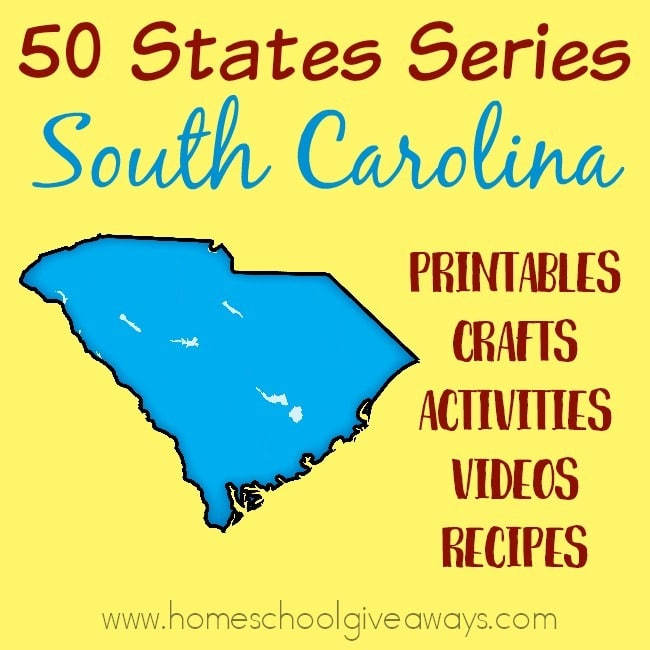 Everything you need to teach and/or learn about the great state of South Carolina. From free printables to must see places to visit, to crafts, activities and more! :: www.homeschoolgiveaways.com