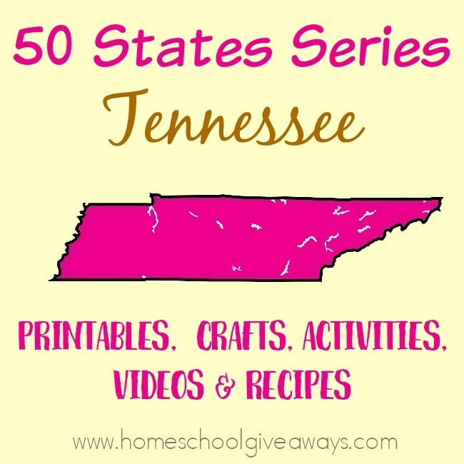 Everything you need to teach and/or learn about the great state of Tennessee. From free printables to must see places to visit, to crafts, activities and more! :: www.homeschoolgiveaways.com