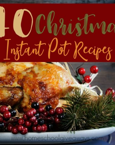 Christmas is a time to be with family and friends, but that doesn't mean it has to be stressful. This year, make your entire meal in the Instant Pot! It will save you time and taste delicious! :: www.homeschoolgiveaways.com