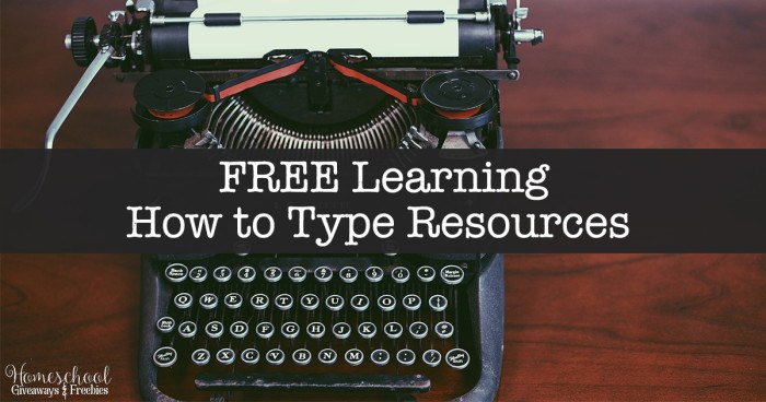 FREE Learning How to Type Resources FB
