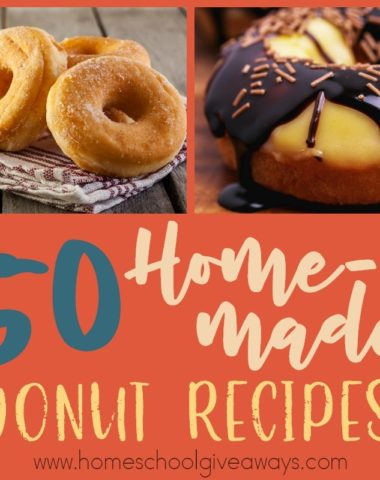 Who doesn't love a good donut. Homemade ones are even better! Check out this list of delicious recipes you can try at home! :: www.homeschoolgiveaways.com