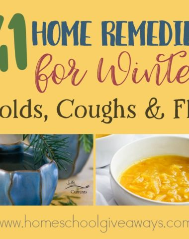 Most families deal with winter colds and coughs that seem to linger for weeks, even months. If you're looking for a different solution this year, check out these home remedies for colds, coughs and flu! :: www.homeschoolgiveaways.com