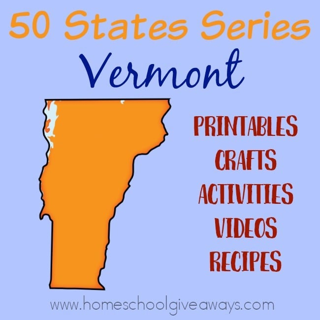 Everything you need to teach and/or learn about the great state of Vermont. From free printables to must see places to visit, to crafts, activities and more! :: www.homeschoolgiveaways.com
