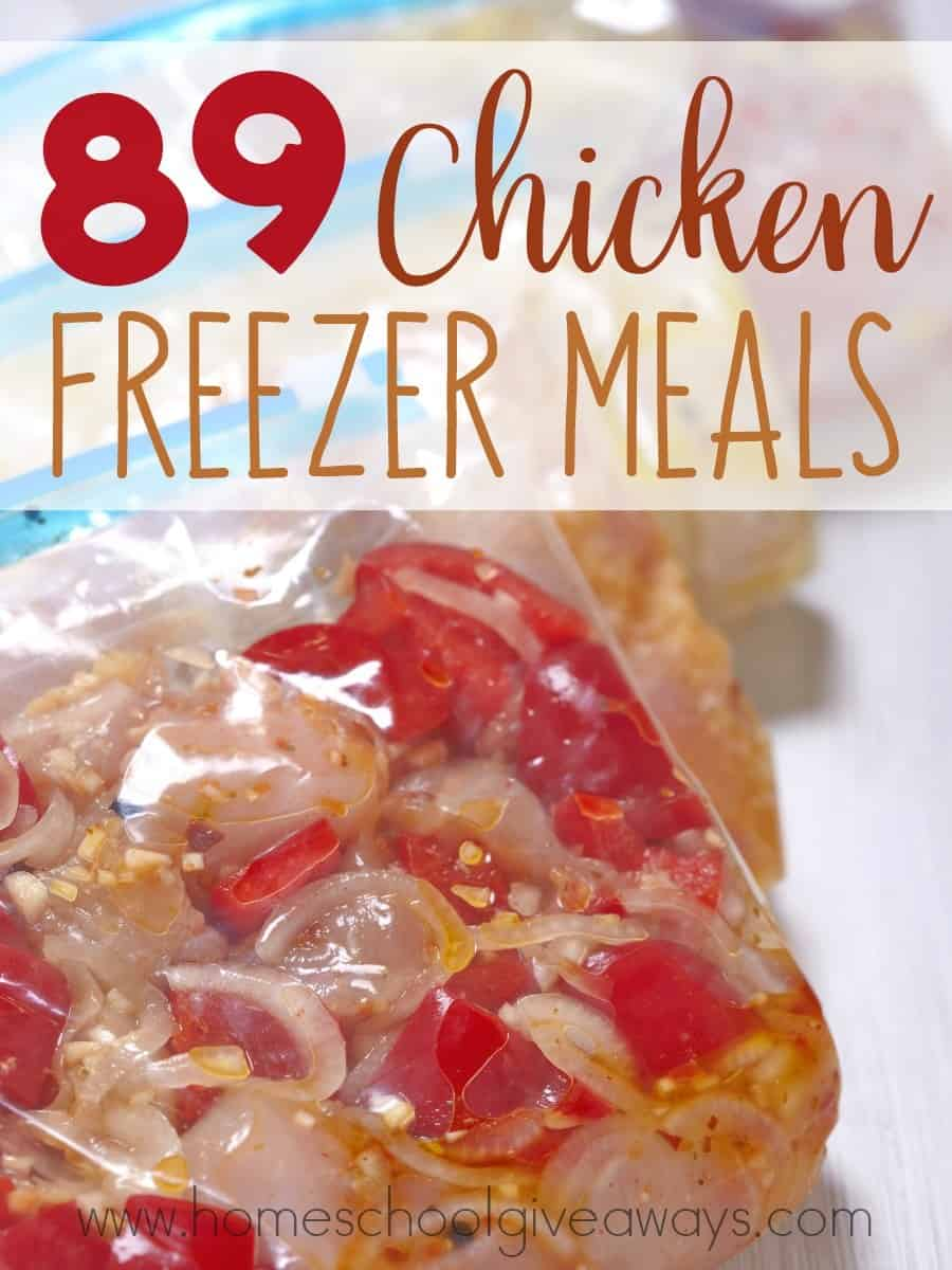 Do you wish you could have meals ready in no time? These Chicken Freezer Meals are simple and easy to prepare and ready to pull out of the freezer at a moments notice! :: www.homeschoolgiveaways.com