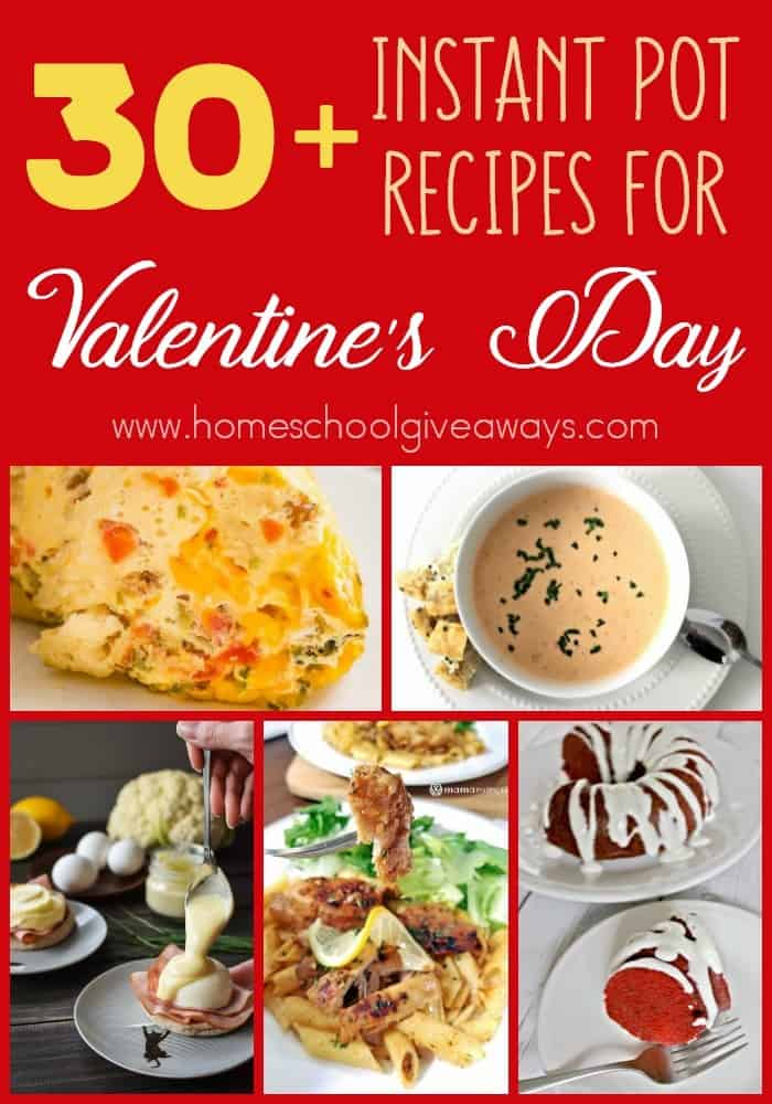 Make Valentine's Day special at your own home with these Instant Pot Recipes! These are sure to please from breakfast to dinner! :: www.homeschoolgiveaways.com