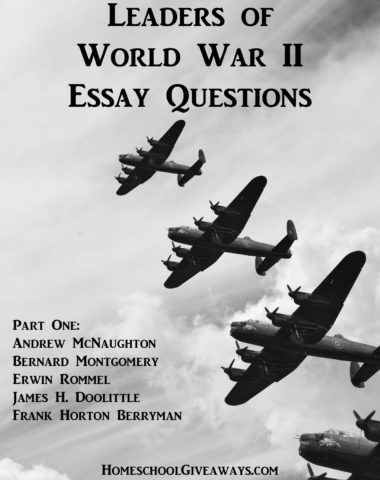 Leaders of World War II Essay Questions, Part One