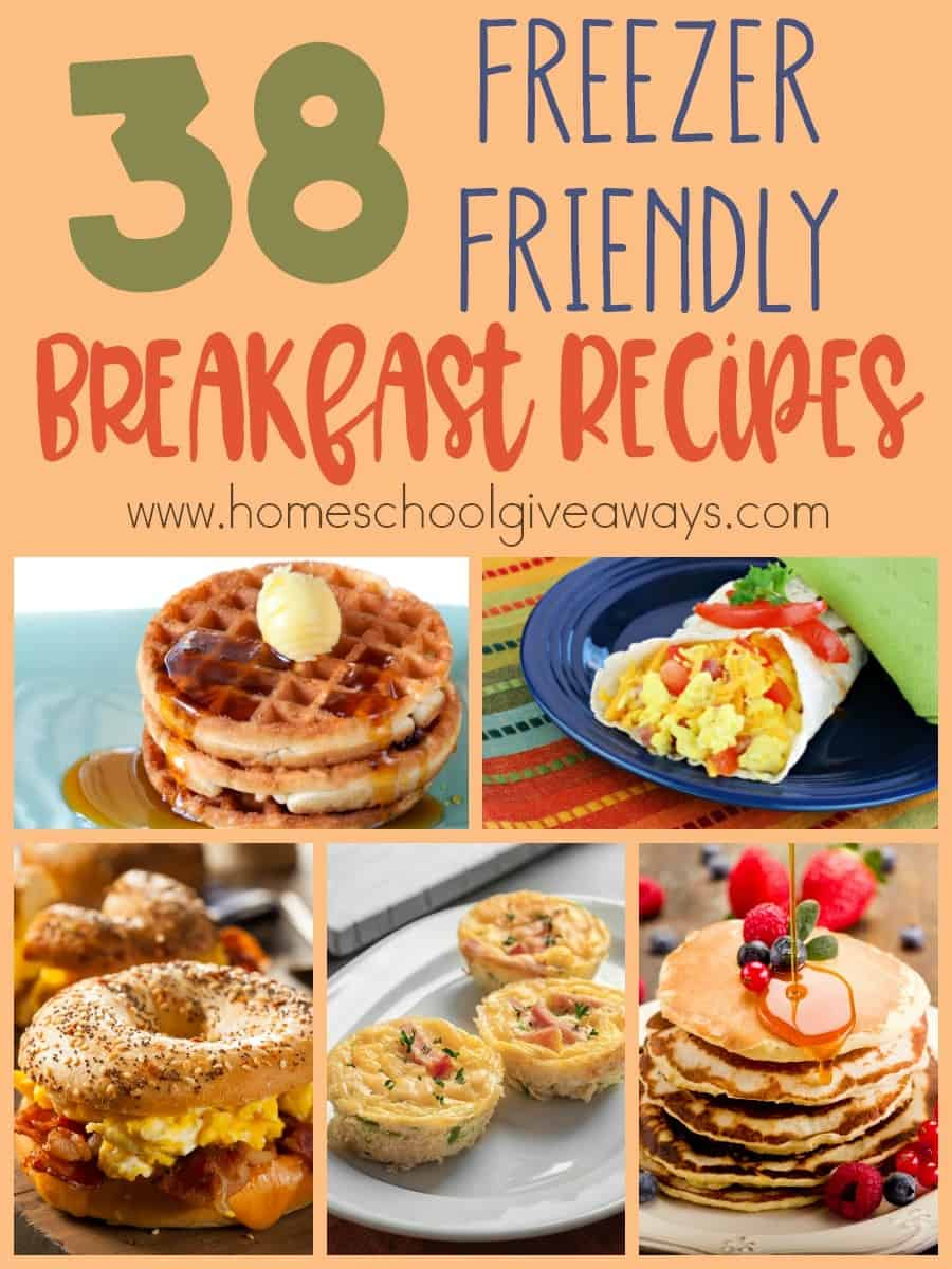 Breakfast is a crazy time in our house. People wake up at different times and usually grab cereal or oatmeal. Having freezer meals ready-to-go and eat in a hurry is a great way to start the day on a healthy note! :: www.homeschoolgiveaways.com