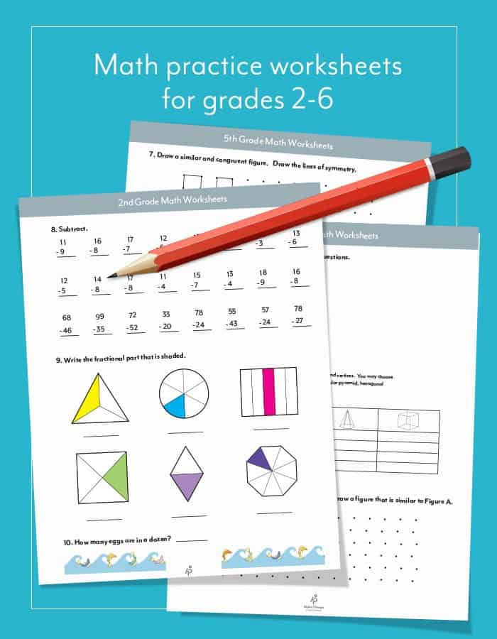 FREE Horizons Math Practice Worksheets For Grades 2-6 - Homeschool Giveaways