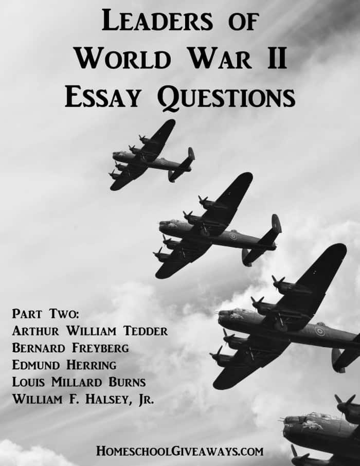 Leaders of World War II Essay Questions, Part Two