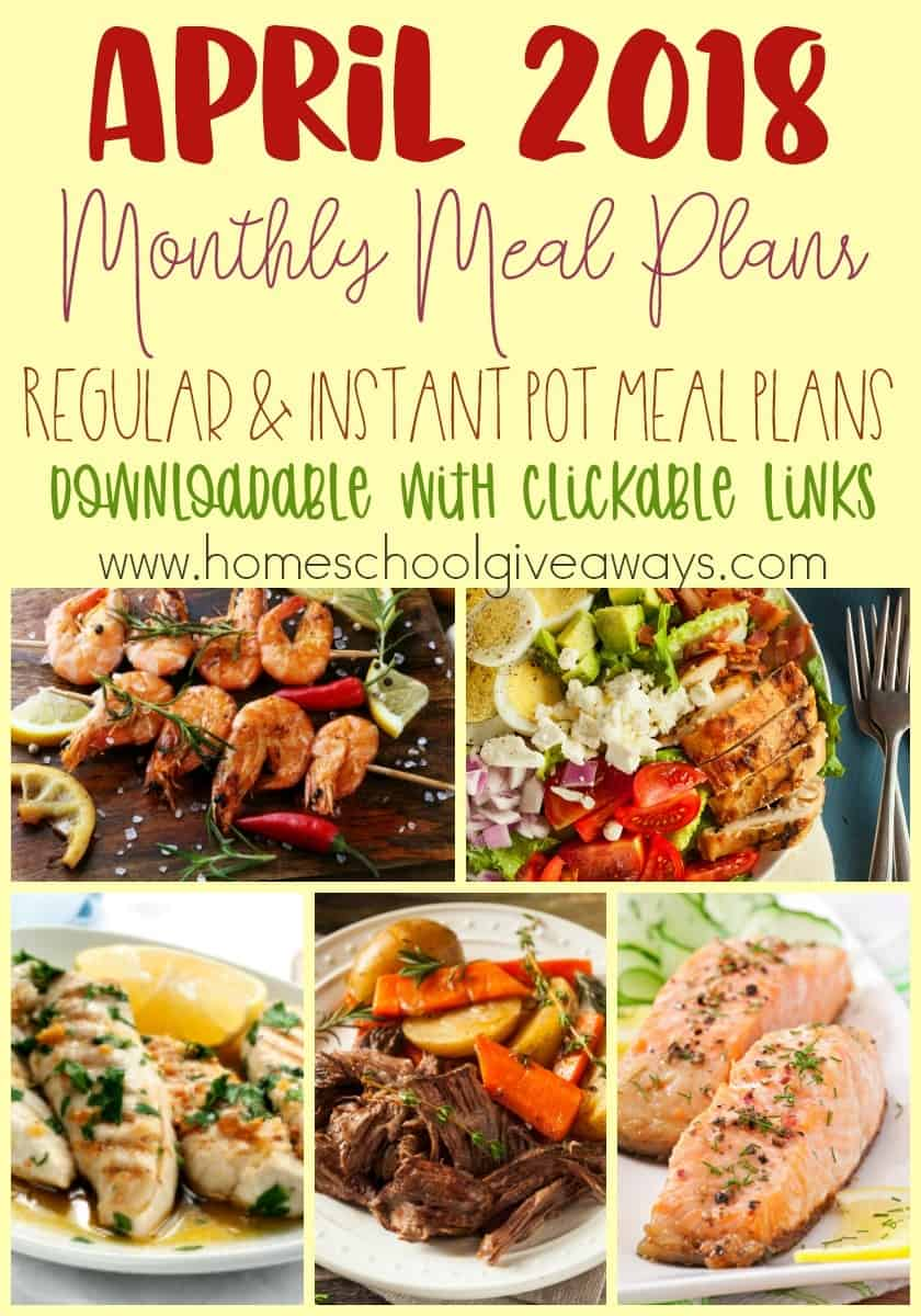 A new month is upon us and that means another month of meal planning. Check out these fresh Spring recipes to help you stick to a budget, get out of a rut or just to give your planning brain a rest! :: www.homeschoolgiveaways.com