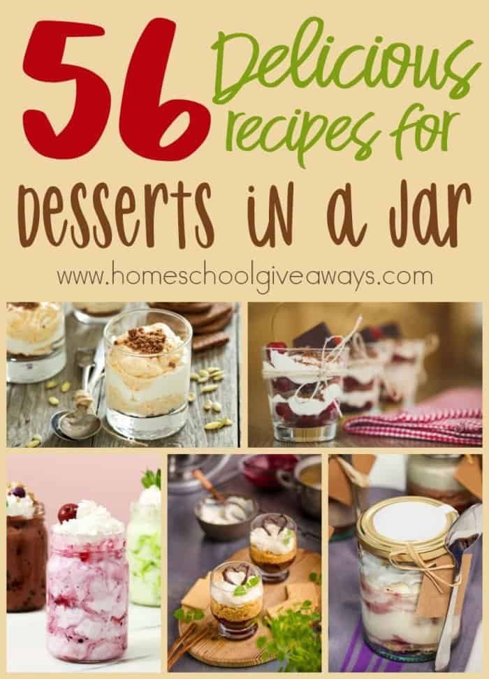 Whether you have picky eaters or you just love the cuteness of desserts in a jar, these recipes are sure to please everyone in your family! Check out these delicious recipes today! :: www.homeschoolgiveaways.com