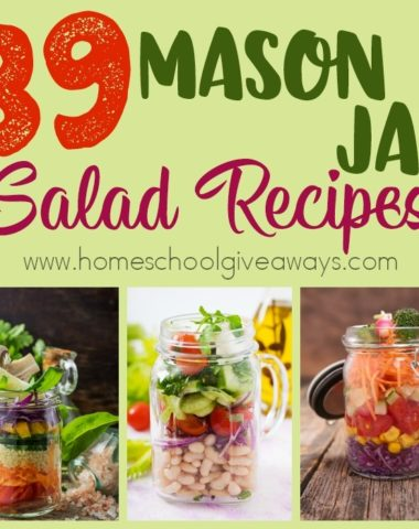 I love having quick, easy and healthy meals ready-to-go. These Mason Jar Salad recipes are the perfect solution! With so many different varieties, you'll never get bored! :: www.homeschoolgiveaways.com