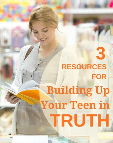 3 resources for building up your teen in truth, homeschoolgiveaways.com, image purchased at depositphoto by author