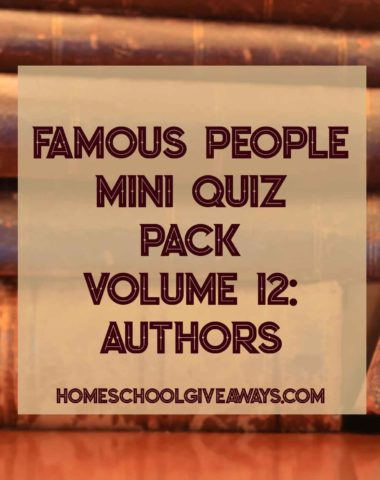 Famous People Mini Quiz Pack Volume 12: Authors