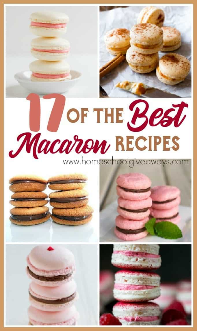 Who doesn't love a good cookie or sweet treat? Whether you love macarons or have yet to try one, I hope you find some new favorites in this list of the 17 Best Macaron Recipes! :: www.homeschoolgiveaways.com
