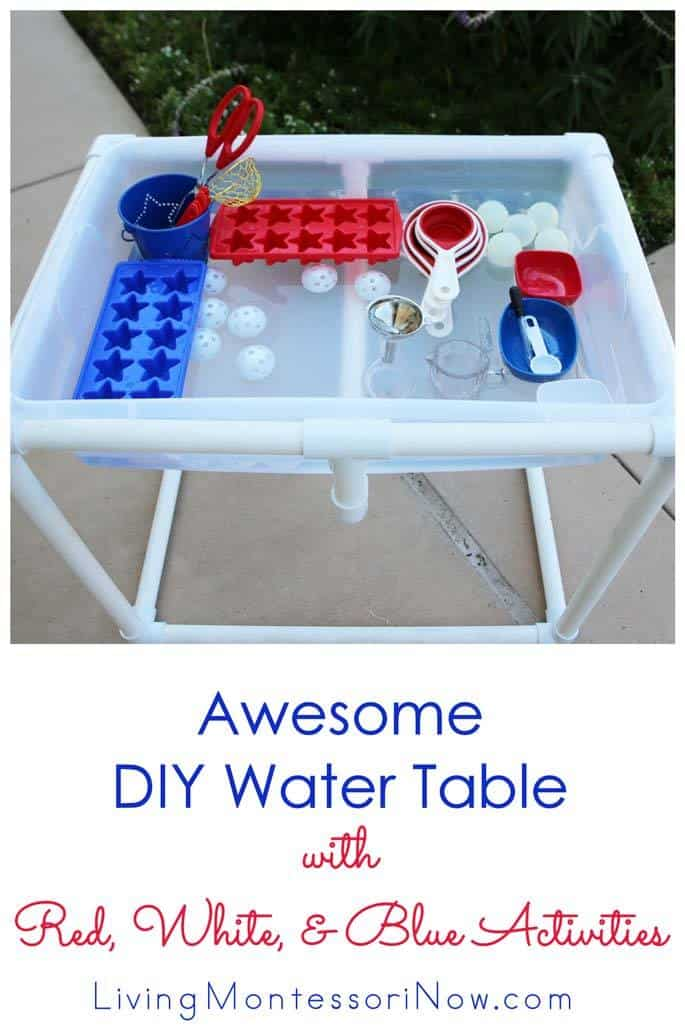 Awesome-DIY-Water-Table-with-Red-White-and-Blue-Activities-1
