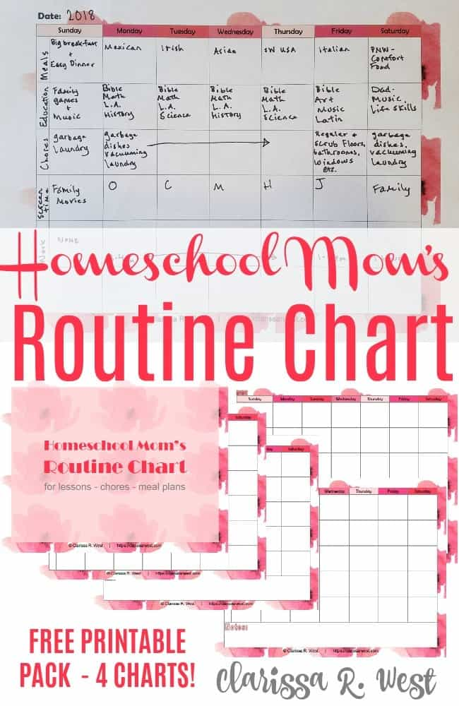 Homeschool-Moms-Routine-Chart
