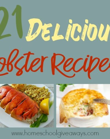 Did you know June 15th is National Lobster Day? Most people don't need a good reason to eat lobster, but just in case you do...this is a reason to celebrate! Check out these mouthwatering recipes to get you started! :: www.homeschoolgiveaways.com