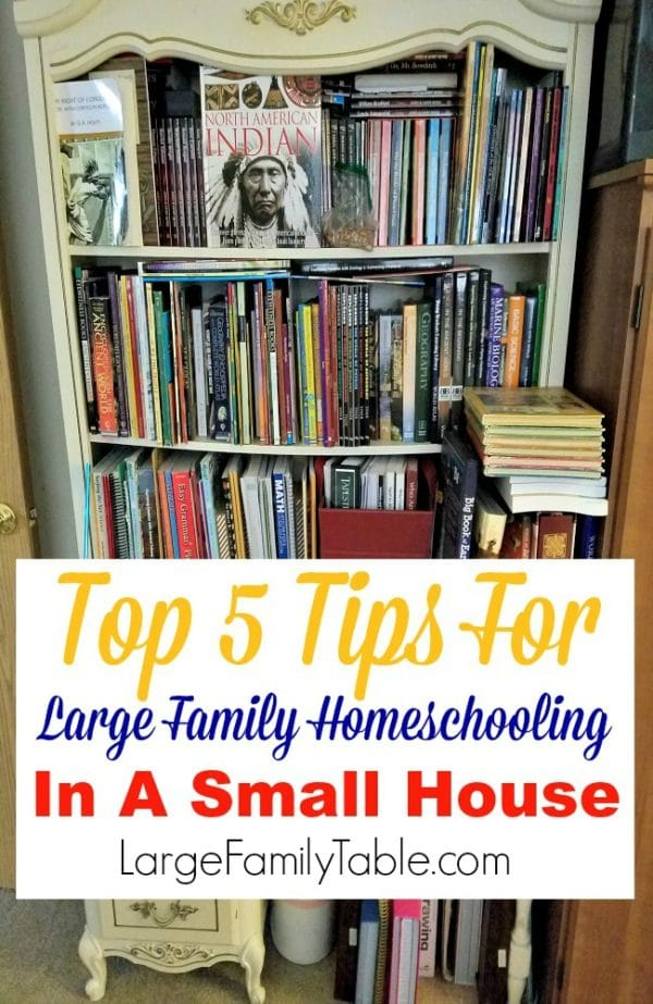 Top-Five-Tips-For-Large-Family-Homeschooling-In-A-Small-House-600x923