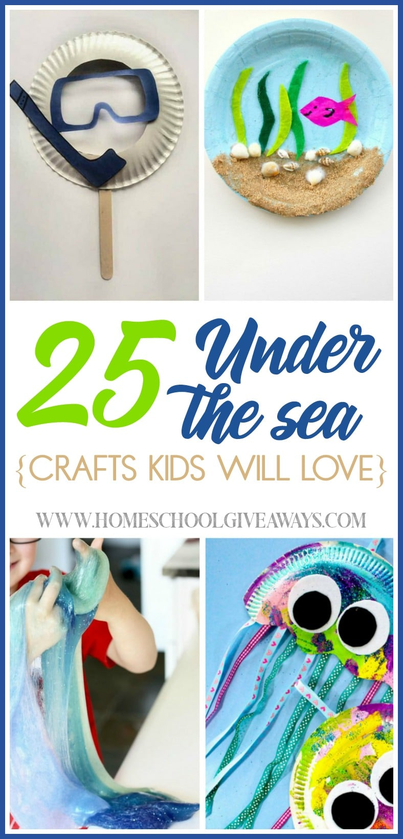 Are you studying the ocean or sea animals? Make your lessons come to life with these Under the Sea crafts your kids will love! :: www.homeschoolgiveaways.com
