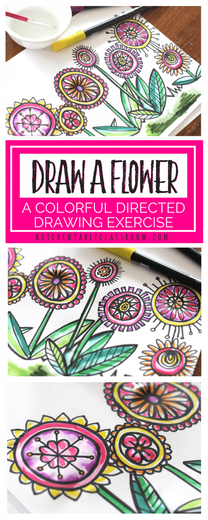 Flower-doodle-draw-a-flower-directed-drawing-lesson-pinterest-tiny-700x1750