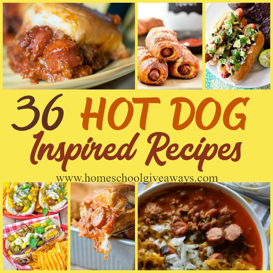 Hot dogs are one of the few foods my kids love to eat - all year long. So I decided it was high time we tried some variety in our mundane hot dog meals. Check out these Hot Dog inspired dishes to mix things up, create something new or just enjoy a treat! :: www.homeschoolgiveaways.com