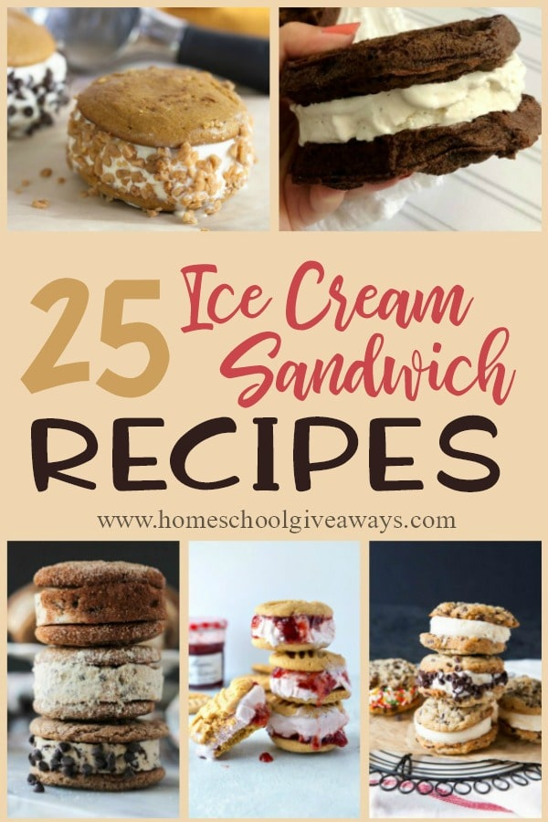 Ice cream isn't just for those hot summer days. In fact, ice cream sandwiches can be enjoyed all year long. Just mix up the flavors, add a little seasonal twist and you've got it made! Check out these recipes for some delicious inspiration! :: www.homeschoolgiveaways.com
