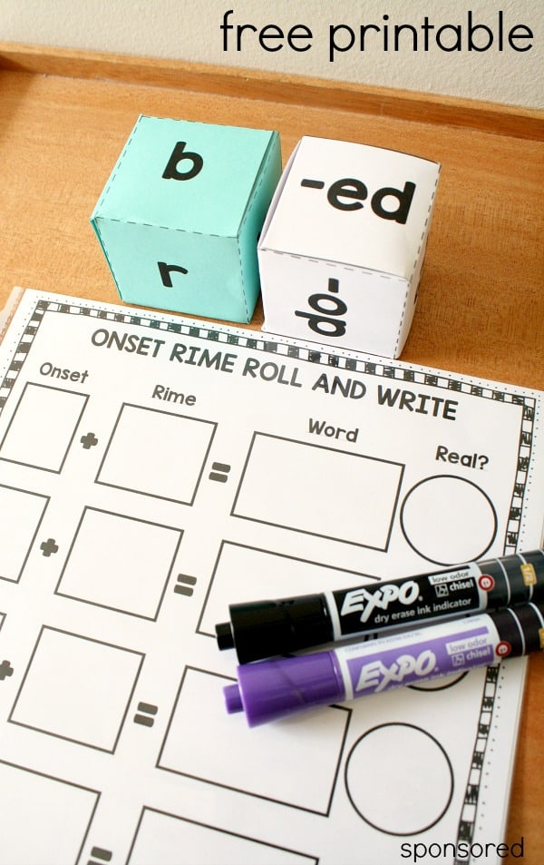 Practice-blending-onsets-and-rimes-with-this-free-printable-roll-and-write-phonics-activity-for-kindergarten-and-first-grade